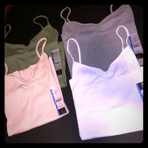 4 NEW NoBo Cinch Front Ribbed Camis 3X XXXL